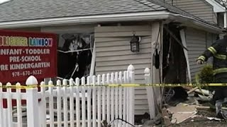 Raw: Car Crashes into Mass. Day Care Center