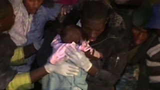 Children Rescued from Collapsed Nairobi Building