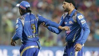 Harbhajan Singh,Ambati Rayudu Ugly Spat - IPL 2016 Fight - Mumbai Indians Vs Rising Pune Supergiants