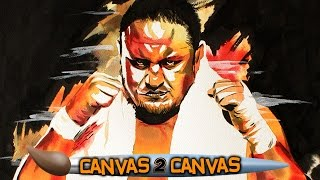 The Samoan Submission Specialist takes over the canvas: WWE Canvas 2 Canvas