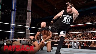 Kevin Owens attacks during the Intercontinental Title Match: WWE Payback 2016 on WWE Network