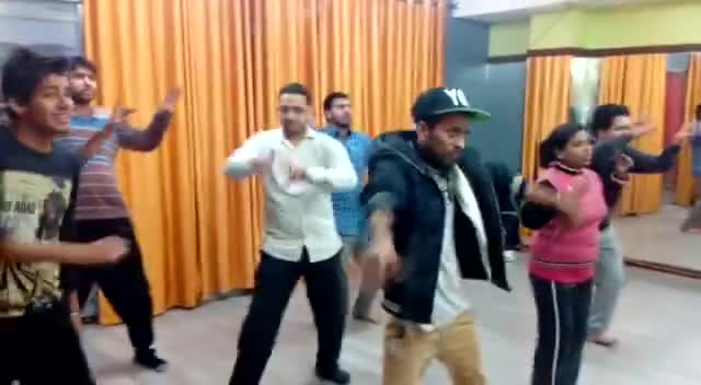 Dancing Practise with students