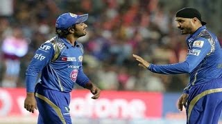 IPL 2016 - Harbhajan Singh & Ambati Rayudu Fight During Match