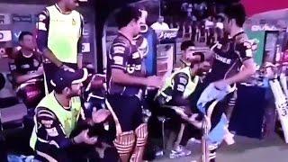 RCB vs KKR IPL 2016 - Angry Gautam Gambhir Hit Chair in the dugout