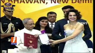 Kangana Ranaut Receives National Best Actress Award - 63rd National Film Awards - iNews
