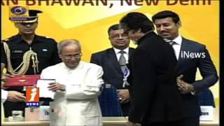 Amitabh Bachchan Receives National Award  Pranab Mukherjee  63rd National Film Awards - iNews