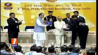 Shobu Yarlagadda Receives National Award For Baahubali  63rd National Film Awards  iNews