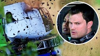 Fifty Shades Darker: Christian's Helicopter CRASHED!!Jamie Dornan