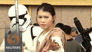 Fans celebrate Star Wars day in Taiwan