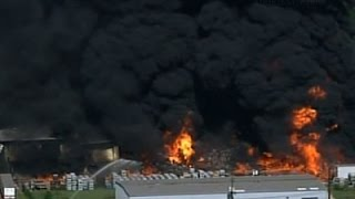 Raw: Raging Fire, Explosions at Houston Business