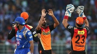 IPL 2016 - Mumbai Indians vs Sunrisers Hyderabad - Sunrisers Hyderabad Spank Mumbai Indians By 85 Runs