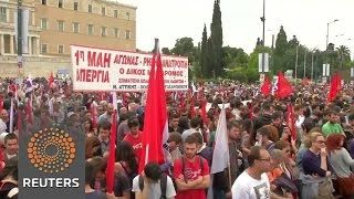 Greeks protest against tax, pension reforms