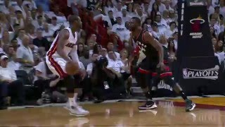 Kyle Lowry & Dwyane Wade Duel in Miami