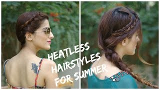 2 Cute + Easy HEATLESS Summer Hairstyles + Ways To Style Them (Perfect for Summer!)
