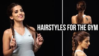 Cute & EASY Hairstyles For The Gym  Sporty/Athletic Workout Hairstyles