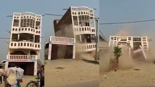 On Cam: Building collapses in seven seconds
