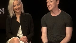 On Set Giggles With Lawrence and McAvoy