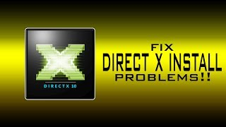 Fix Direct X Installation ERROR!(works 200%)