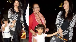 Aishwarya Rai Bachchan leaves for Cannes 2016 with daughter Aaradhya Bachchan