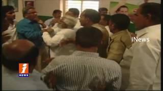 Rayalaseema Joint Action Committee Members in front of Tulasi Reddy Kurnool iNews