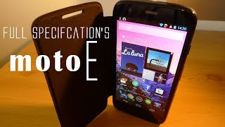 Motorola Moto E full Features & Specifications Revealed [100$,Androind 4.4,32GB & Much More]