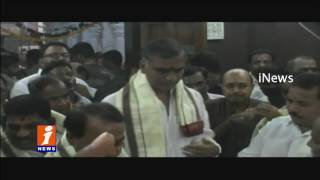 TRS Ministers Offer Special Prayers At Basara Gnana Saraswati Temple Harish Rao iNews