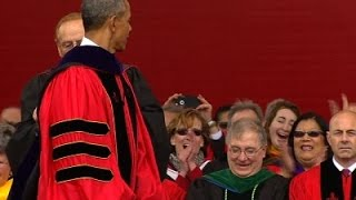 Obama Tells Graduates Walls Won't Solve Ills