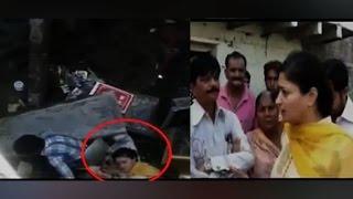 On Cam: Gujarat MP slips into a drain