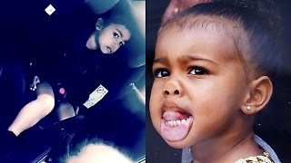North West Throws Shade at Kim Kardashian With Serious Side Eye on Snapchat