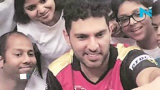Yuvraj to young cancer survivor, 'I will hit six sixes again'