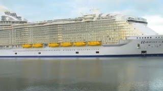 Raw: World's Largest Cruise Ship Docks in UK