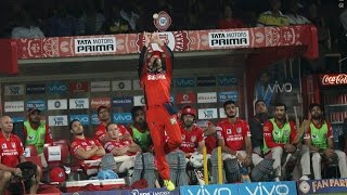 Brilliant Catch Ab de Villies - RCB VS KXIP -  IPL 2016 - Match 50