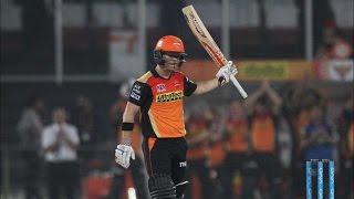 IPL 2016 - Sunrisers Hyderabad vs Delhi Daredevils - David Warner Takes SRH To 158 Runs