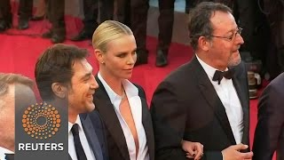 Stars of 'The Last Face' walk the red carpet in Cannes