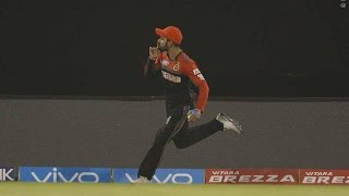 Brilliant Catch Virat Kohli - DD VS RCB - PL 2016 - Match 56