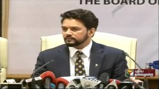 Anurag Thakur press meet after taking over as BCCI president