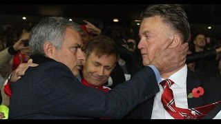 Jose Mourinho Manchester United meets Louis Van Gaal Manchester United