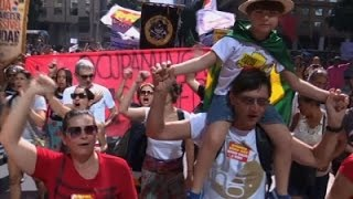 Raw: Brazilians Protest Acting President Temer