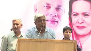 Ashutosh  Addresses People During Protest on Helicopter Scam at Jantar Mantar