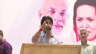 Kumar vishwas Addresses People During Protest on Helicopter Scam at Jantar Mantar