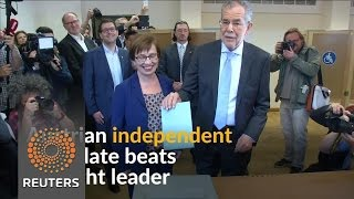Austrian independent candidate Alexander van der Bellen beats far-right leader Norbert Hofer in