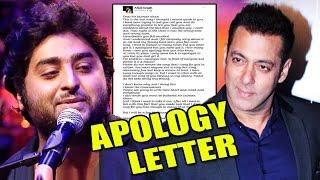 Arijit Singh's Public APOLOGY LETTER To Salman Khan