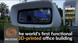 The world's first functioning 3D-printed office building