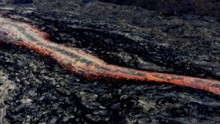 Raw: New Lava Flows from Kilauea Volcano, Hawaii