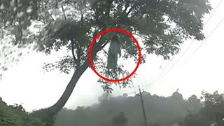 Real Ghost Video - Real Ghost Caught on Camera - Ghost hanging on tree - Scary videos