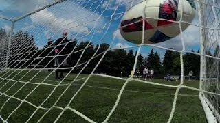 AP Sportswriter Tries Goalkeeping Against Pros