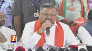 BJP Govt work for people Welfare and development   Raman Singh In Mahabubnagar   iNews