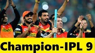 IPL Final 2016 - RCB vs SRH - SRH Won By 8 Runs - Full match