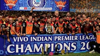 Sunrisers Hyderabad win IPL 2016 trophy, Virat Kohli gets orange cap