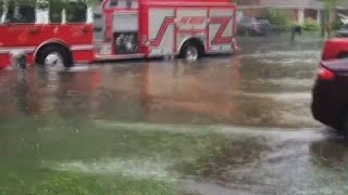 Raw: Heavy Rains Flood South Carolina Coast